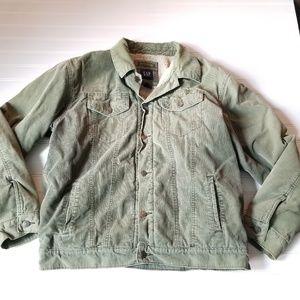 GAP Sherpa Trucker Jean Jacket Size Large